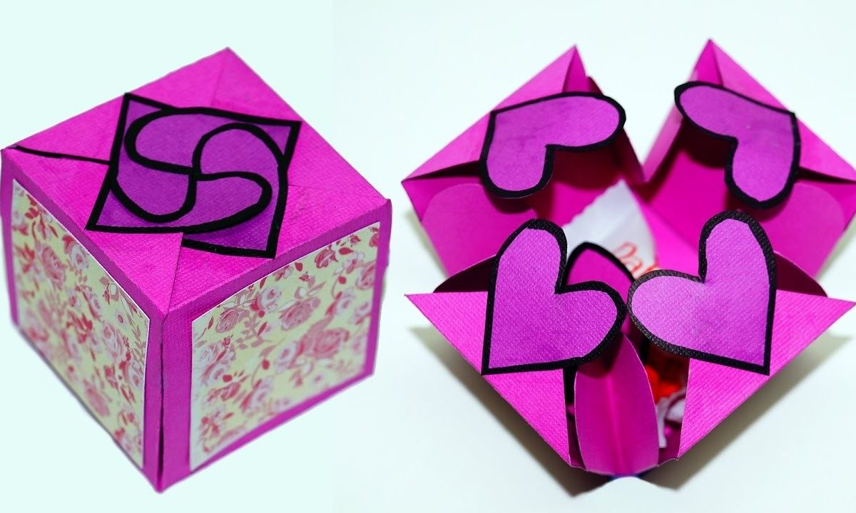 Diy Paper Crafts Idea - Gift Box Sealed With Hearts - A Smart Way with regard to Paper Craft Ideas For Gifts