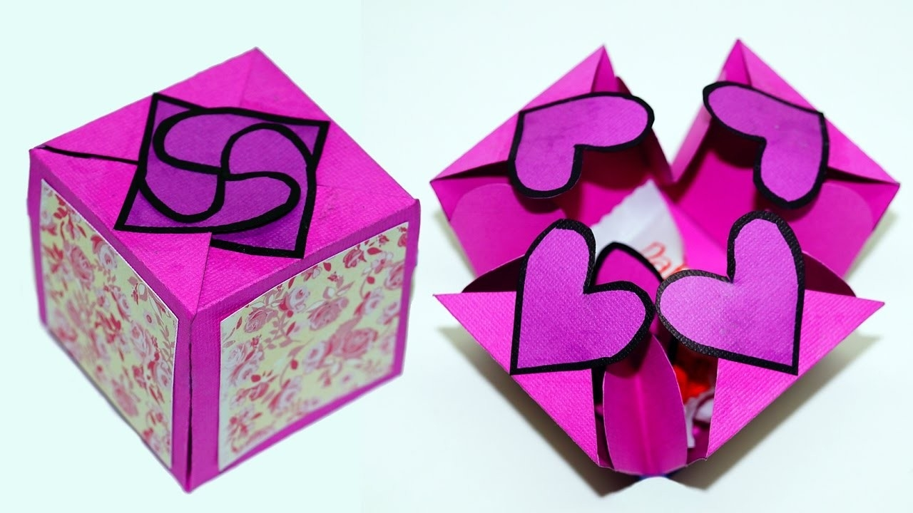 Diy Paper Crafts Idea - Gift Box Sealed With Hearts - A Smart Way with regard to Paper Craft Ideas For Gifts 27470