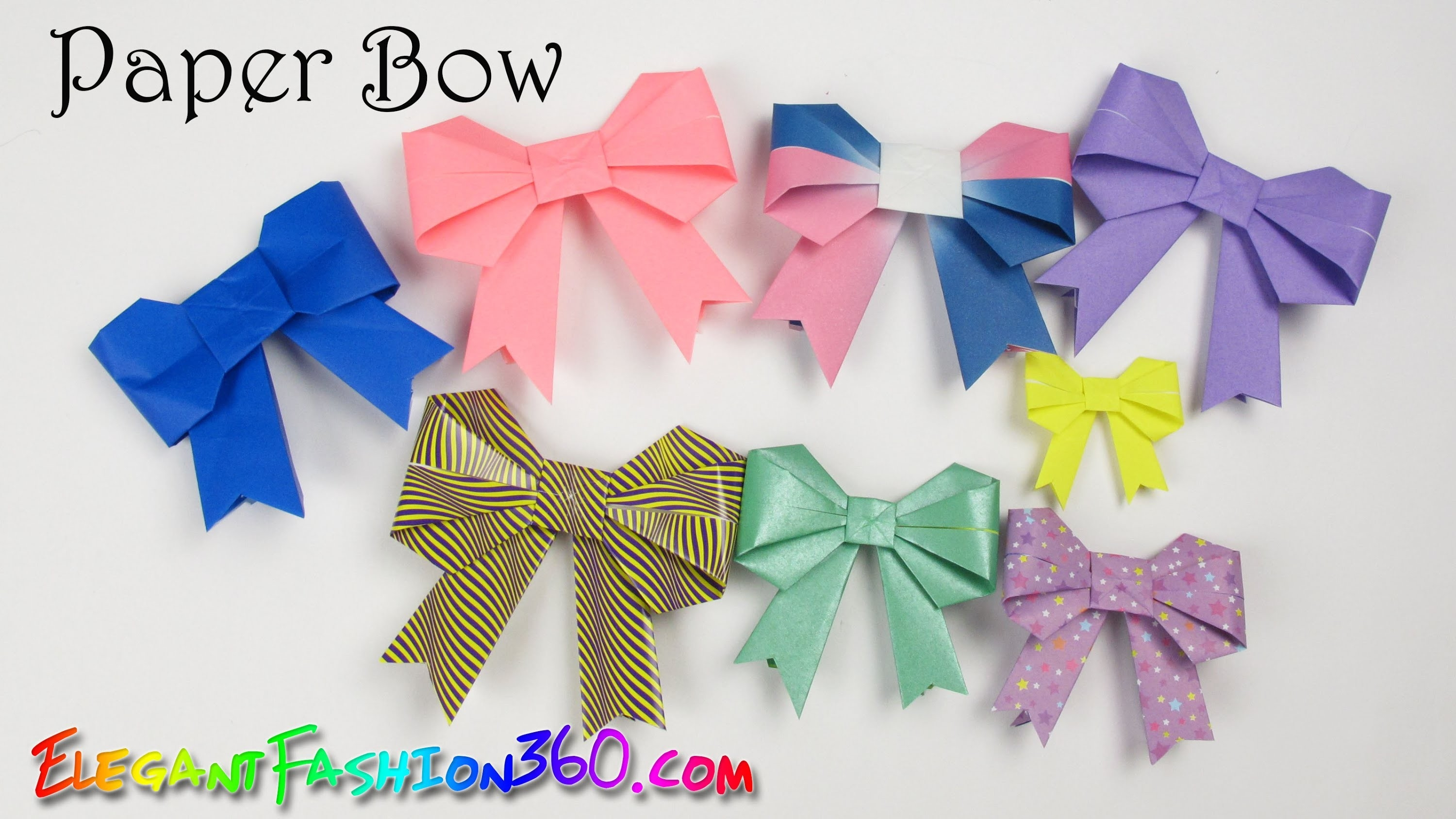 Diy Paper Crafts: Paper Bow/ribbon Cute And Easy - How To Origami in How To Make Cute Paper Crafts 26915