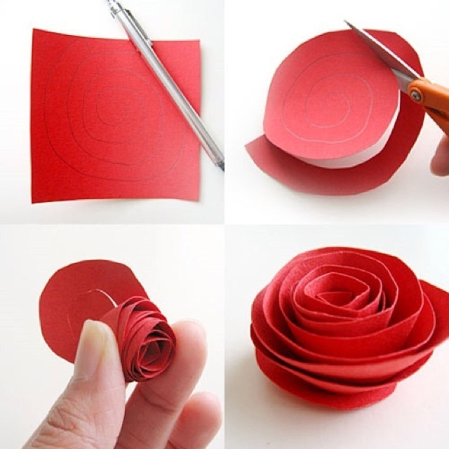 Diy Paper Flower Tutorial Step By Step Instructions inside How To Make Paper Roses Step By Step With Pictures 29076