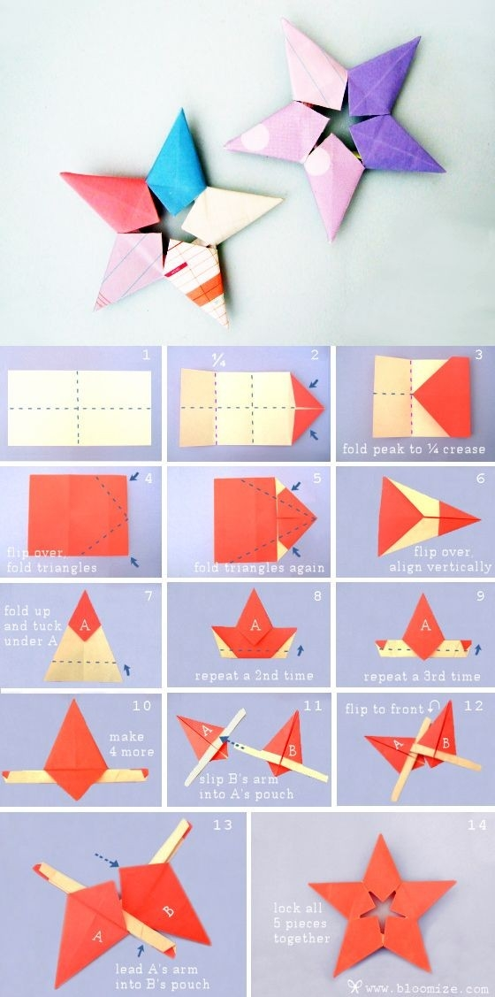 Diy Paper Stars | Crafty Projects | Pinterest | Paper Stars for How To Make Cute Paper Crafts 26915