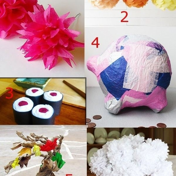Diy Tissue Paper Crafts: Inspiring Ideas For Projects With Tissue pertaining to How To Make Tissue Paper Crafts 26814
