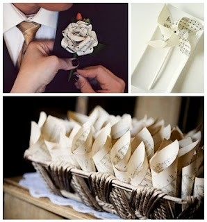 Diy Vintage Paper Wedding Projects | Afloral Wedding Blog intended for Wedding Paper Crafts Ideas 26875