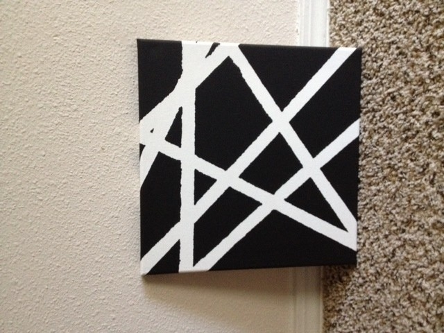 Diy Wall Art – For The Lazy Artist On A Budget pertaining to Black And White Wall Art Diy 27281