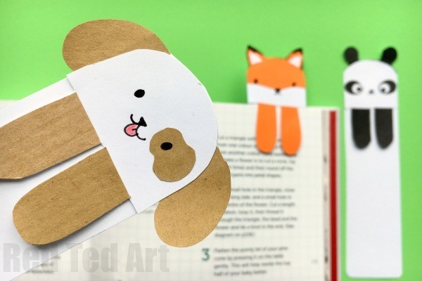 Dog Bookmark - Cute Bookmark Ideas - Red Ted Art's Blog in How To Make Cute Handmade Bookmarks Design 27900