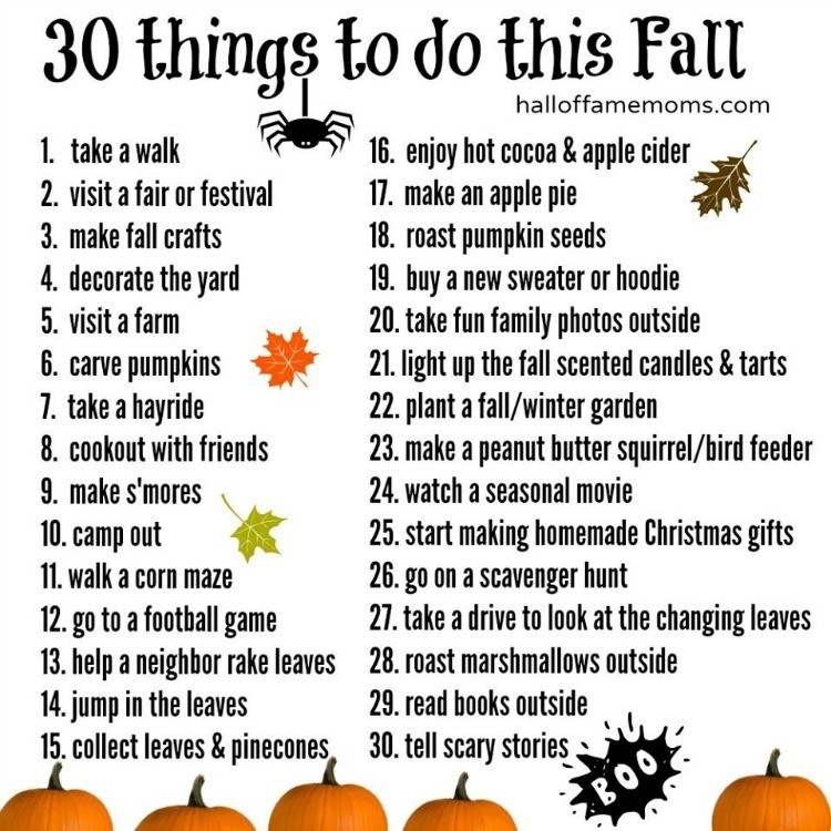 Don't Let Fall Pass By Without Creating Your Own Family's Fall throughout Fun Things To Do List 26252