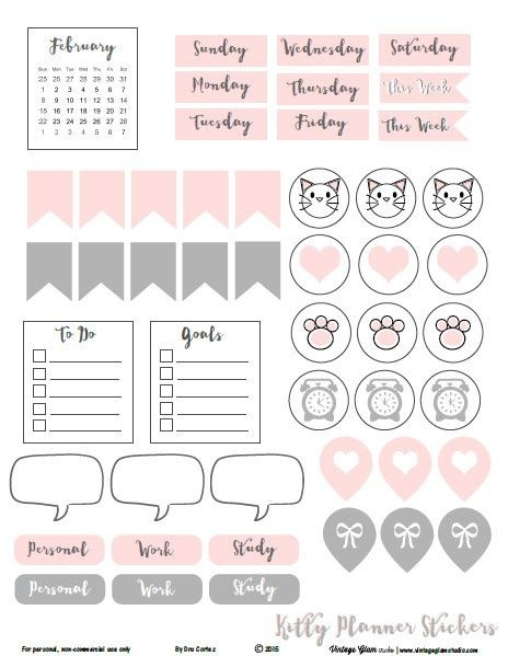 ❤Freebie Friday❤ Functional Planner Stickers | Planner Stickers regarding Cute Planner Stickers 30419