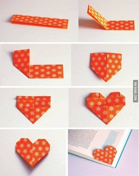 Easy Diy Projects: Corner Bookmarks | Bookmarks, Heart Shapes And with Diy Corner Bookmarks Tutorial 29642
