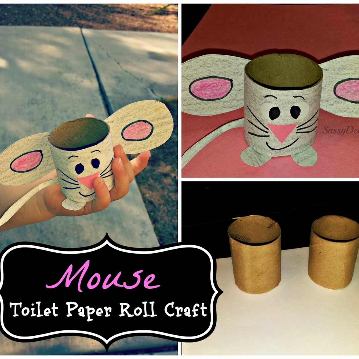 Easy Mouse Toilet Paper Roll Craft For Kids - Crafty Morning in Tissue Paper Roll Crafts