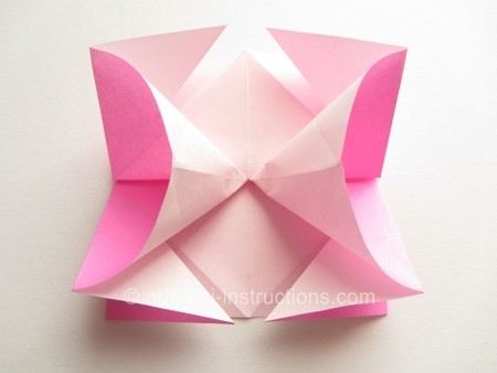 Easy Origami Twisty Rose Folding Instructions Paper Rose Origami in How To Make Paper Roses Origami Step By Step 29086