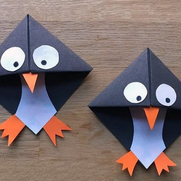 Easy Paper Penguin Corner Bookmark Crafts - Youtube within How To Make Corner Bookmarks With Paper