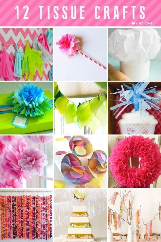 Easy Tissue Paper Crafts | Craft Get Ideas regarding Tissue Paper Crafts For Adults 26523