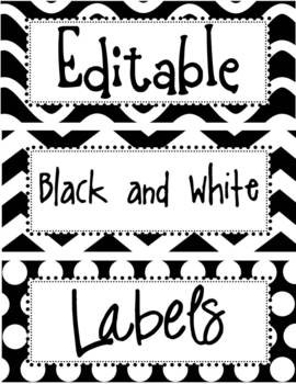 Editable Black And White Labels | White Labels, Decoration And School within Editable Black And White Labels 27739