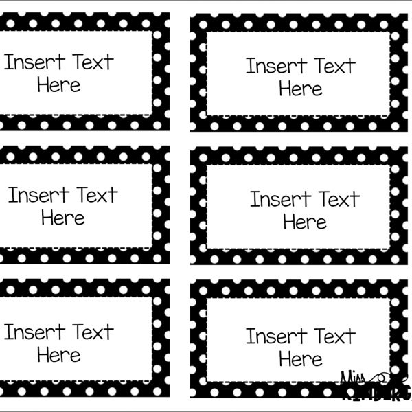Editable Black And White Labels | World Of Label for Editable Black