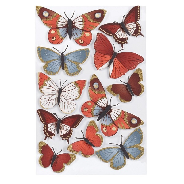 Elegant Nature Metallic Butterfly Stickers Ms-41-00393 - Cozy's inside Butterfly Stickers For Scrapbooking 26493