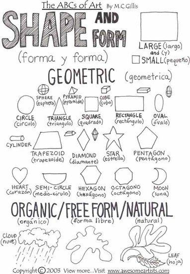 Elements Of Art: Form | Smore Newsletters with regard to Geometric And Organic Shapes In Art 24950