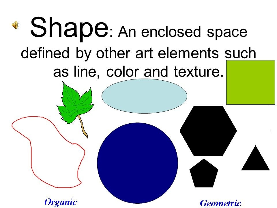 Elements Of Art Line, Shape, Space, Form, Value, Texture And Color intended for Elements Of Art Shape Definition 25292