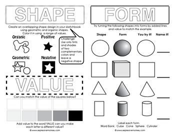 Elements Of Art Shape Drawing | World Of Example regarding Elements Of Art Form Drawing 24755