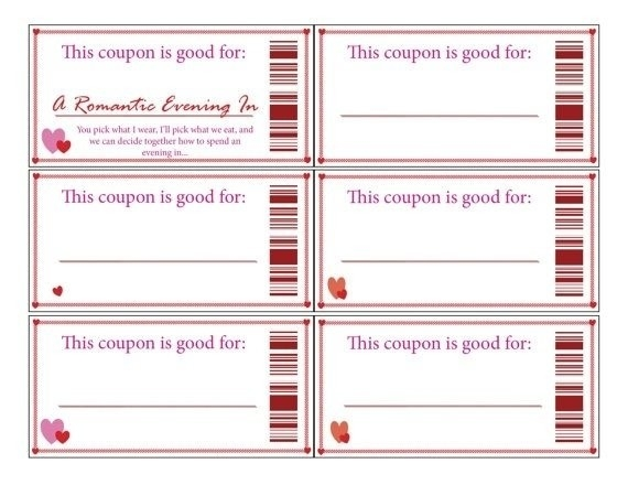 Empty Love Coupons For Him | Journalingsage for Empty Love Coupons For Him 28226