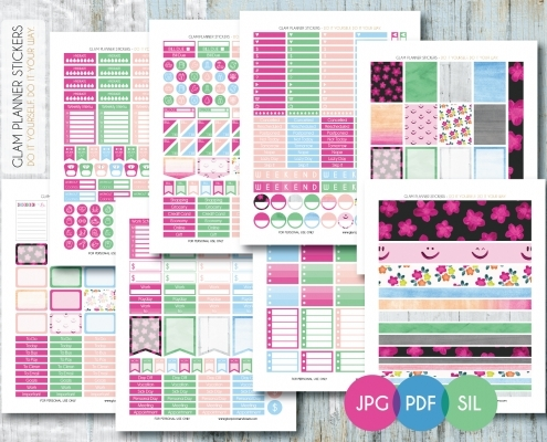 Erin Condren Planner Printable Stickers | World Of Printable And Chart in Erin Condren Planner Stickers 30399