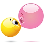Facebook Bubble Kiss Chat Sticker | Facebook Emoticons pertaining to Kiss Stickers For Facebook 26734