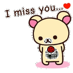 Facebook Sticker #14 From Pack Rilakkuma Inside I Miss You with I Miss You Stickers For Facebook 26774