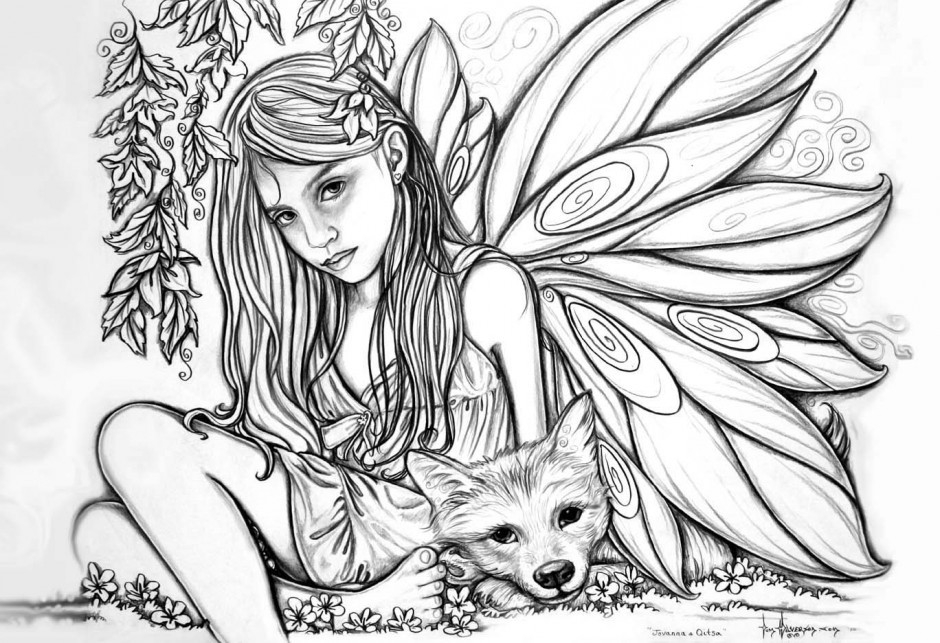 Fairy Coloring Pages For Adults Extraordinary Design - Coloring Ideas regarding Detailed Coloring Pages Of Fairies 29472