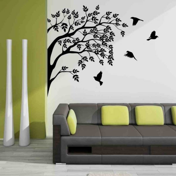 Fascinating Creative Wall Painting Ideas For Living Room U Within