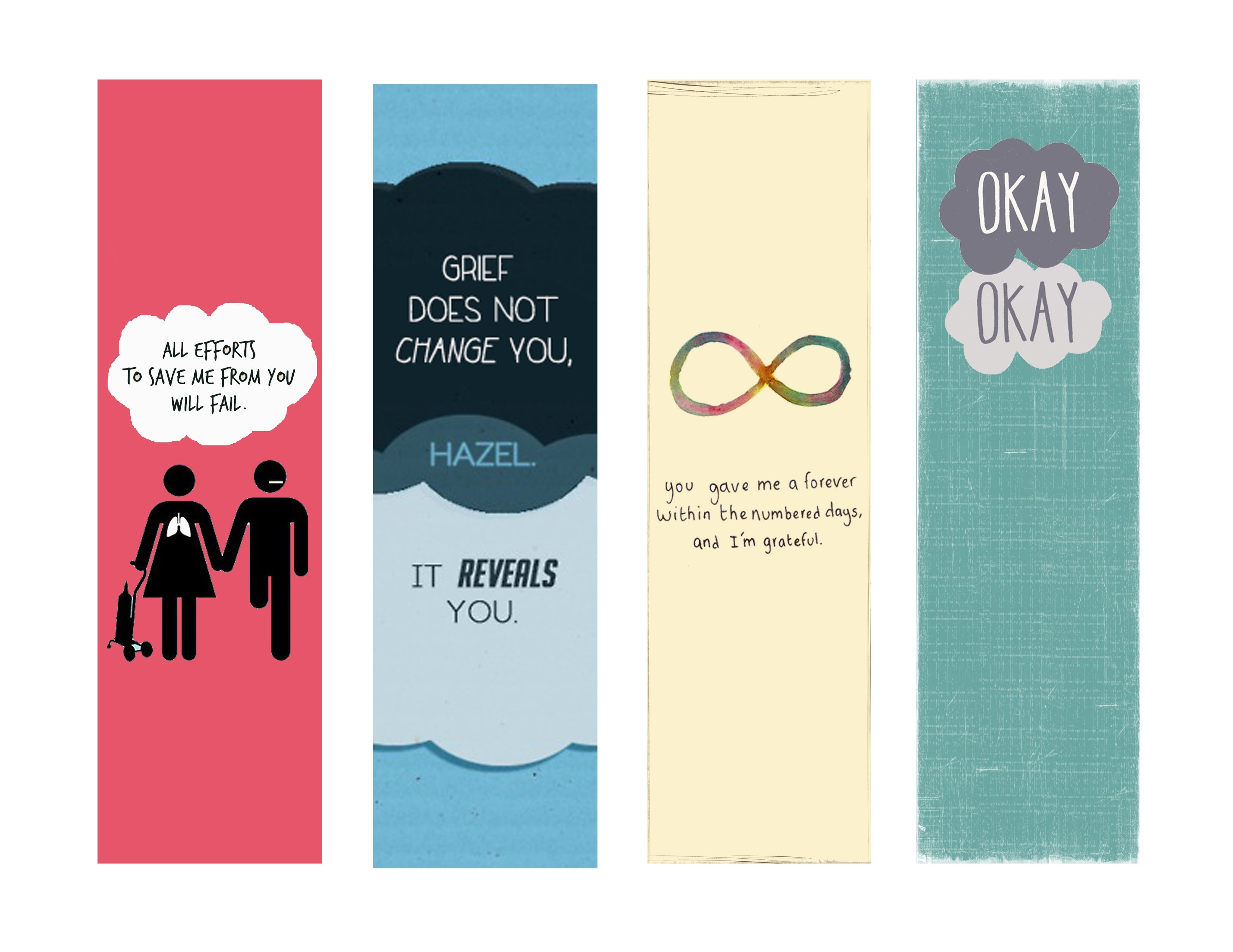 Fault In Our Stars Bookmarks - Google Search | Fault In Our Stars intended for Bookmarks For Books To Print 26654