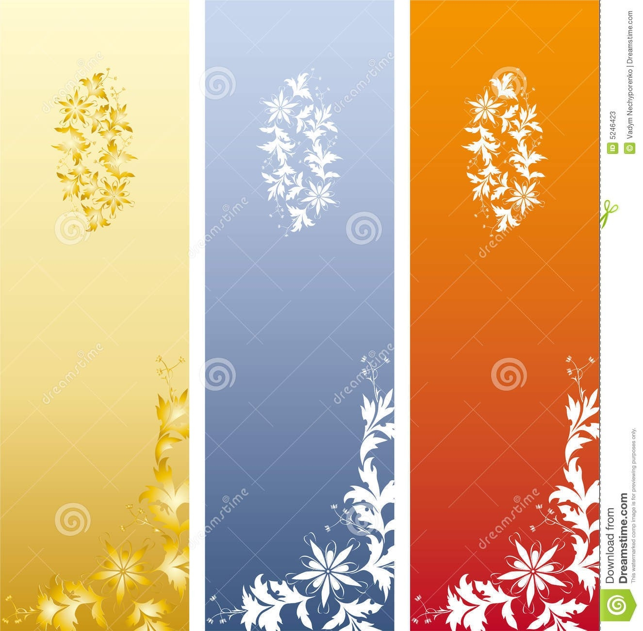 Floral Bookmark Stock Vector. Illustration Of Artwork - 5246423 intended for Bookmark Background Designs Blue 27200