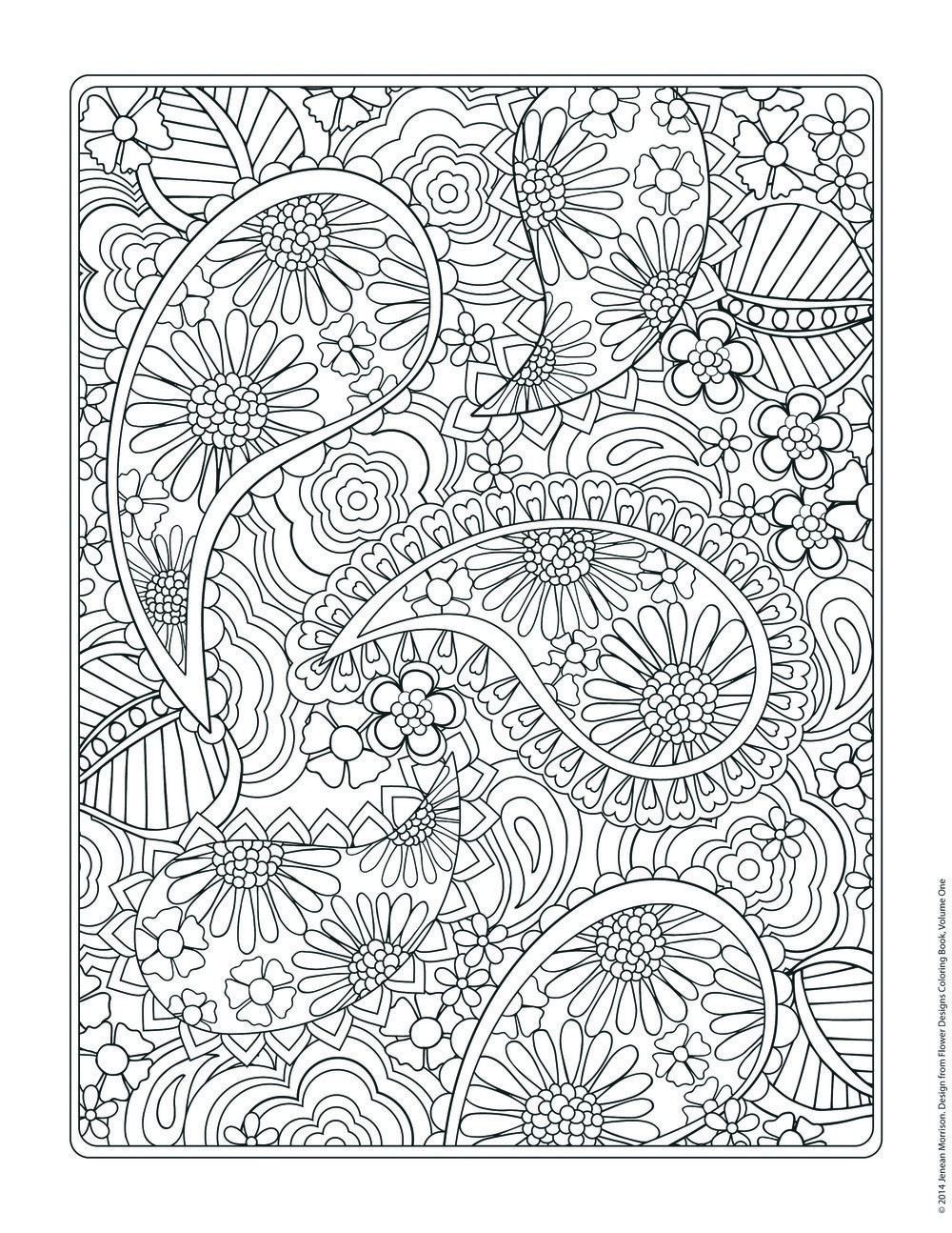 Flower Designs Coloring Book | Flower Designs, Coloring Books And regarding Detailed Flower Pattern Coloring Pages 27079