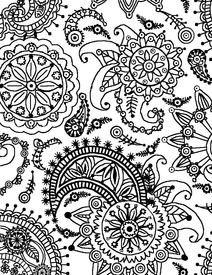 Flower Pattern Coloring Pages Coloring Page For Kids | Kids Coloring inside Detailed Flower Pattern Coloring Pages 27079