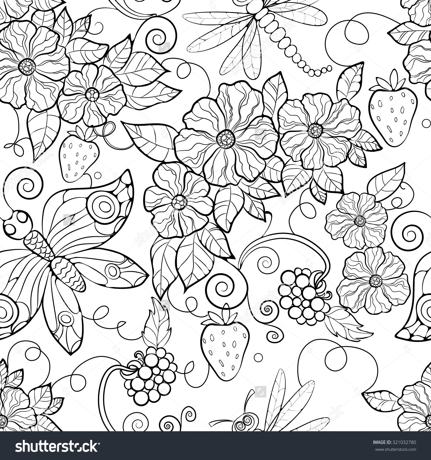 Flower Pattern Coloring Pages | Paginone.biz regarding Detailed Flower Pattern Coloring Pages 27079