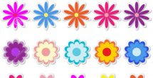 Flower Stickers For Cards