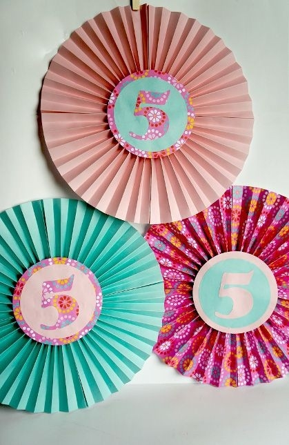 Fold Up These Paper Fans For Easy And Fun Birthday Decor! From with Paper Craft Ideas For Birthday 28945