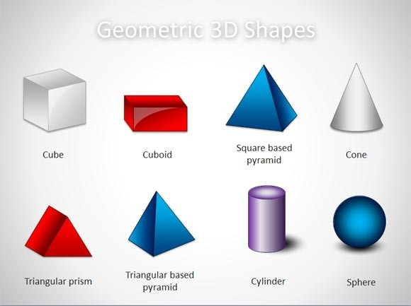 Free 3D Geometric Shapes Template For Powerpoint Presentations in Geometric Shape 3D 24879