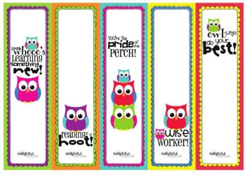 Free Back To School Owl Printables - Living Locurto with Bookmark Designs To Print For Teachers 26433