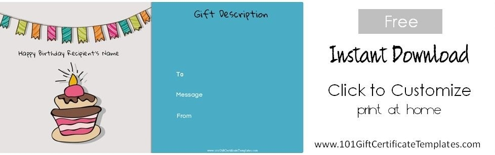 Free Birthday Gift Certificate Template with Birthday Coupon Template 30308