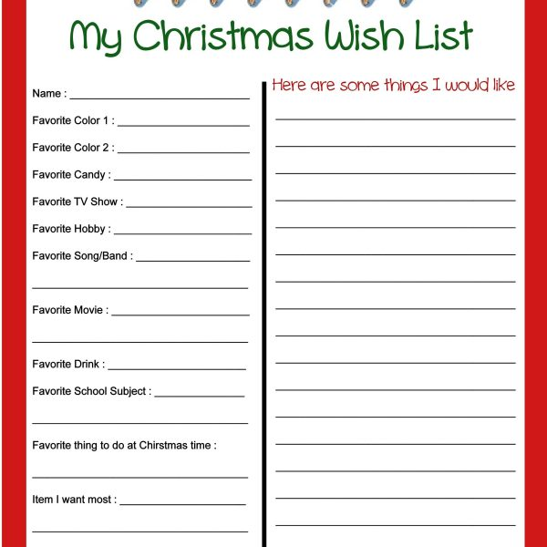 Nifty image inside printable secret santa wish lists