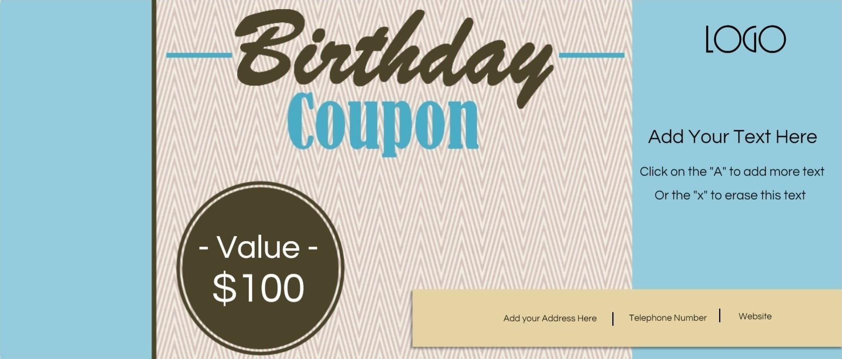 Free Custom Birthday Coupons - Customize Online & Print At Home pertaining to Birthday Coupon Template 30308