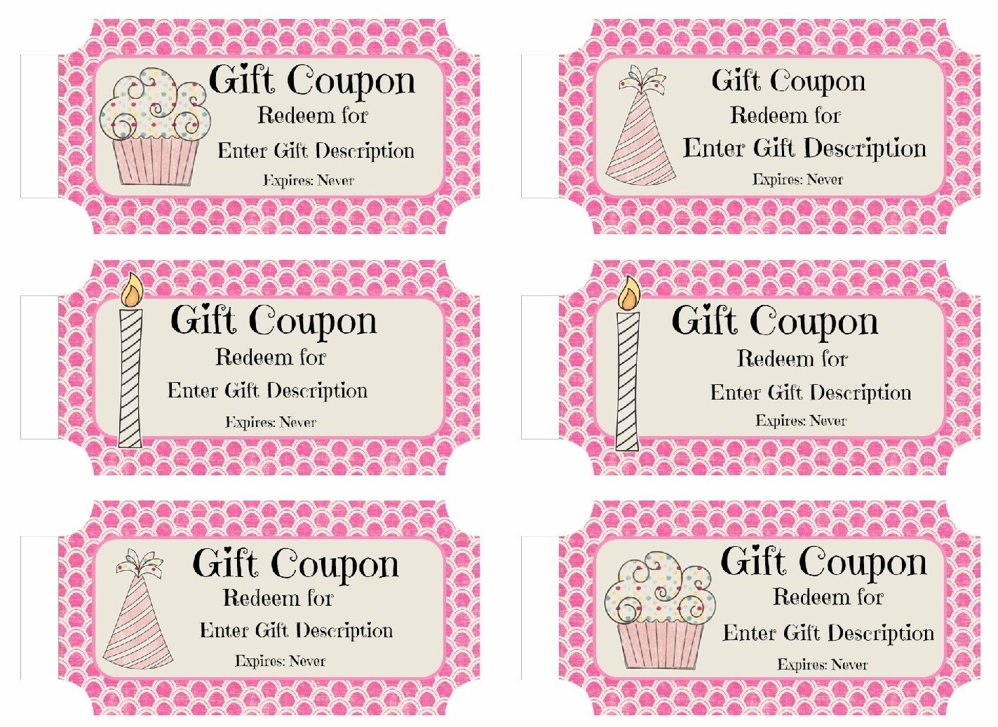 Free Custom Birthday Coupons - Customize Online & Print At Home with regard to Birthday Coupon Template 30308