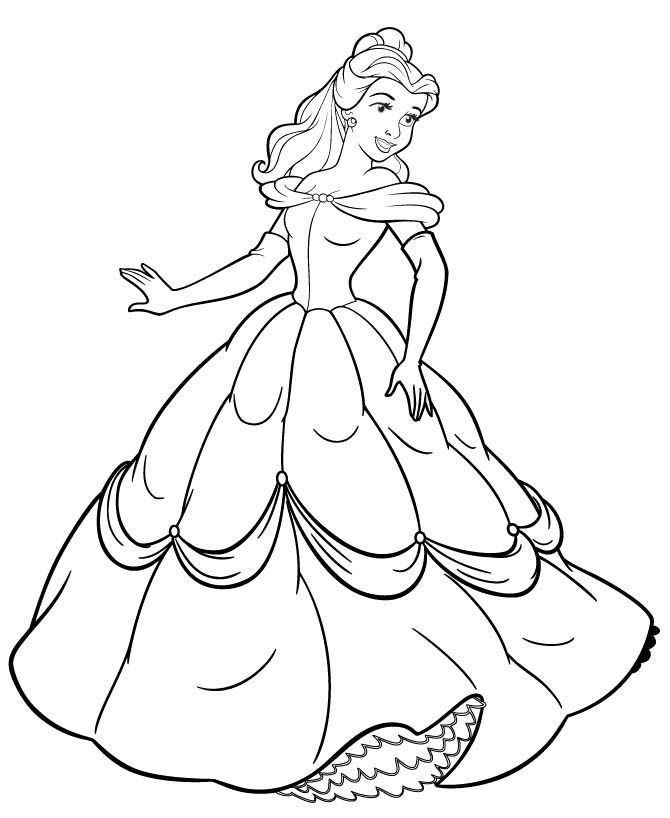 Free Printable Belle Coloring Pages For Kids | Princess Belle in Disney Princess Belle Coloring Pages For Girls 29431