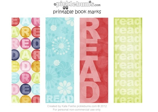 Free Printable Bookmarks For Book Week. pertaining to Cool Bookmarks That You Can Print 26442