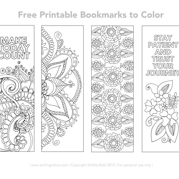 graphic about Free Printable Bookmarks With Quotes called Cost-free Printable Bookmarks In direction of Coloration Smiling Shades for