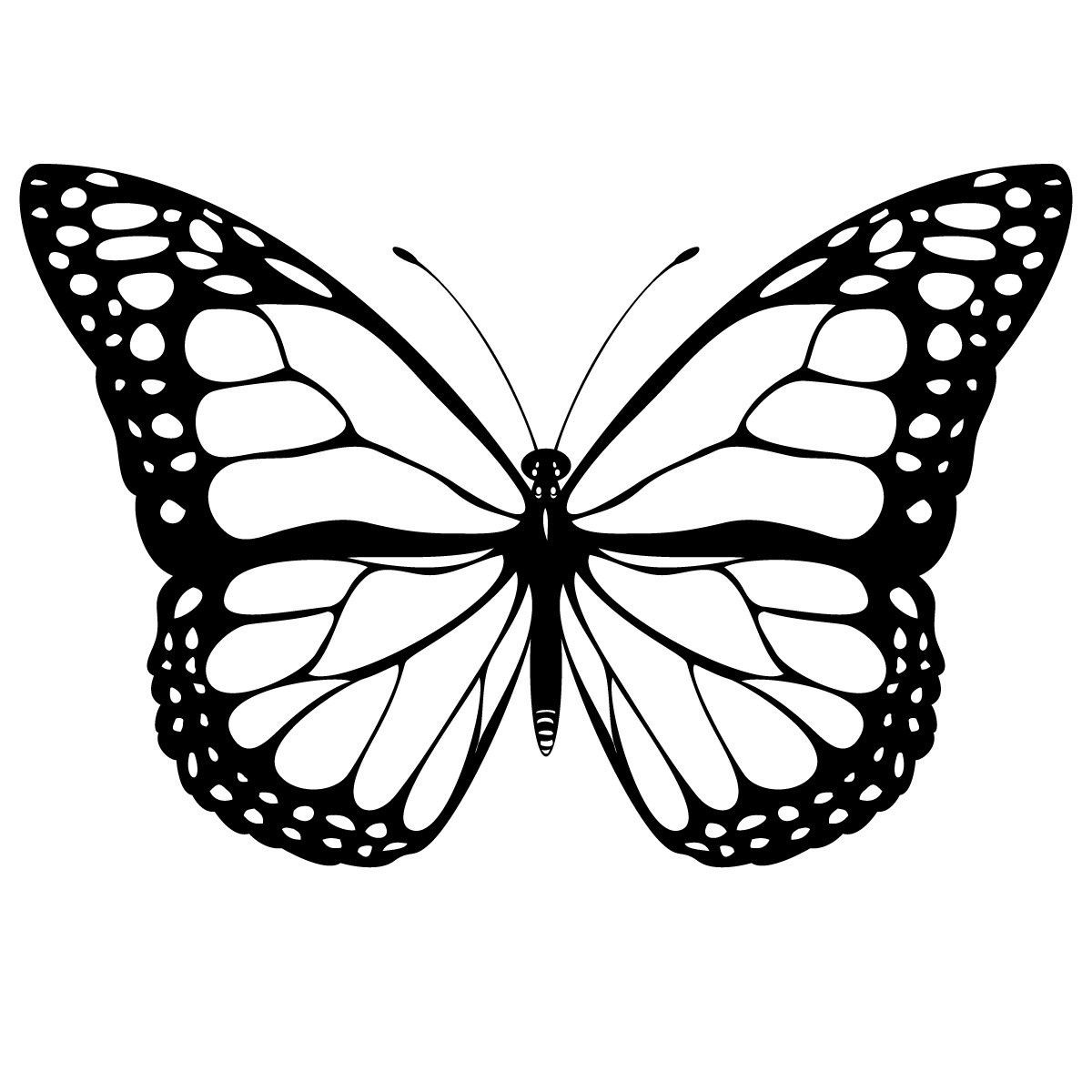 Free Printable Butterfly Coloring Pages For Kids | Printable with Monarch Butterfly Template 29350