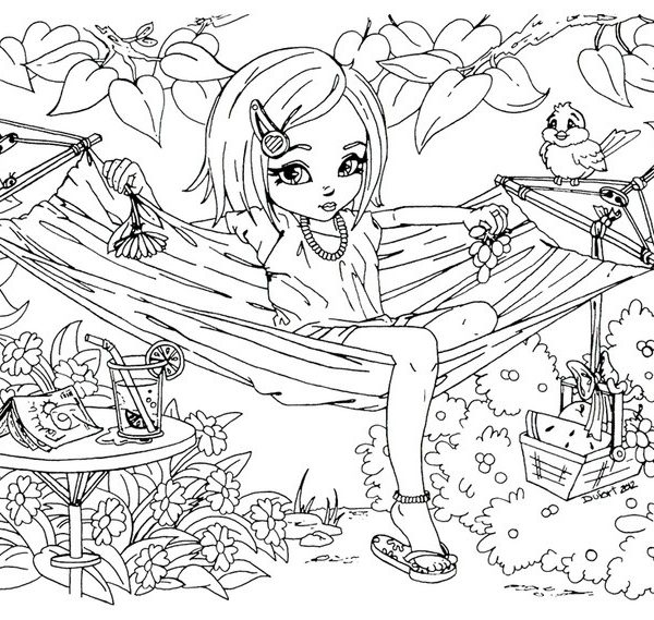 free printable coloring pages for teenage girls color bros within detailed coloring pages for teenage girls - Detailed Color Pages