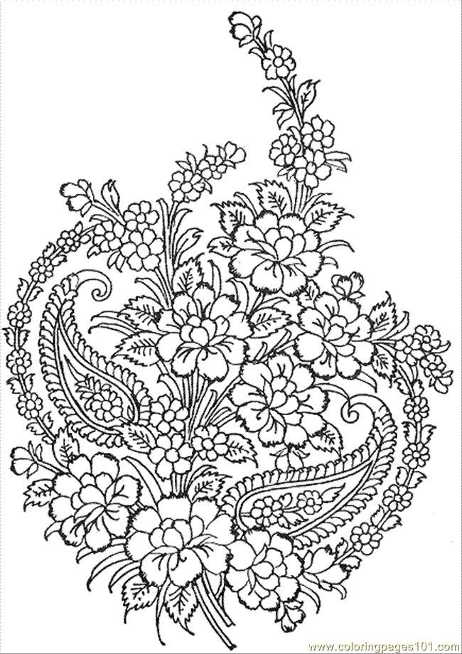 Free-Printable-Flower-Bouquet-Coloring-Pages-49 | Free Coloring throughout Detailed Pattern Coloring Pages 29461