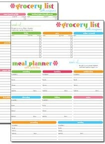 Free #printable Grocery List & Meal Planner | Household Tips within Meal Planner Template With Grocery List 26069
