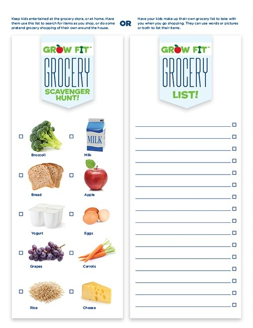 Free Printable Grocery Shopping List For Kids   La Petite Academy with regard to Grocery List For Kids 25543