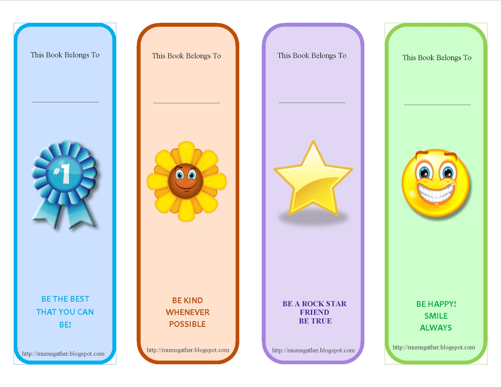Free Printable Motivational Quotes Bookmark For Kids | Ajándék within Bookmark Designs To Print For Teachers 26433